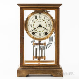 Seth Thomas Crystal Regulator Shelf Clock