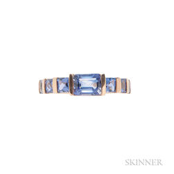 18kt Rose Gold and Sapphire Ring