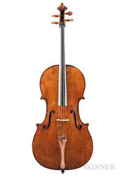 French Violoncello, Probably Didier Nicholas, c. 1830