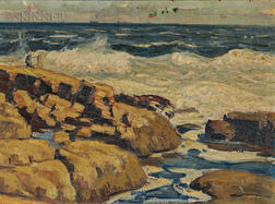 Attributed to Aldro Thompson Hibbard (American, 1886-1972)      Rockport, Massachusetts ,  A Double-sided Painting