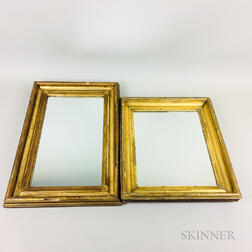 Two Rectangular Gilt-gesso Mirrors