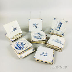 Eighteen Delft Tiles