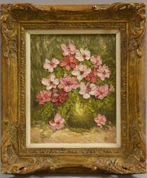 American School, 20th Century      Still Life with Pink Flowers