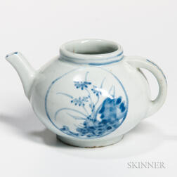 Blue and White Miniature Teapot