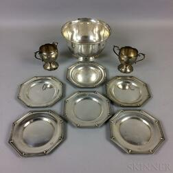 Nine Sterling Silver Tableware Items