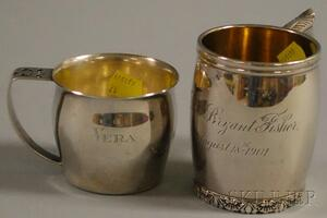 Two Sterling Silver Mugs