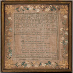 Sarah Newton Needlework Sampler