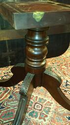 Carved Mahogany Double-pedestal Extension Dining Table