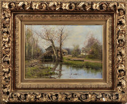 Dubois Fenelon Hasbrouck (American, 1860-1934)      Cottage by a Stream