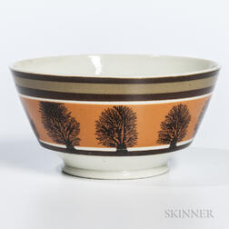 Mocha-decorated London-form Pearlware Bowl