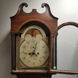Inlaid Mahogany Tall Clock with an Additional Dial and Movement