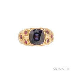 18kt Gold and Color Change Spinel Ring
