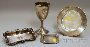 Four Assorted Sterling Silver Trophy or Presentation Items
