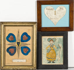 Three Folk Art Watercolors