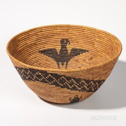 Polychrome Pictorial Mission Basket