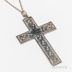 Sterling Silver Engraved Cross Pendant