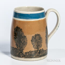 Mocha-decorated Pearlware Pint Mug
