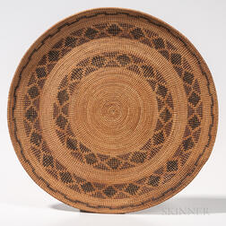 Northern California Mission Basketry Gambling Tray