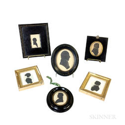 Six Framed Silhouettes