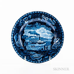 """Small Staffordshire Transfer-decorated """"Chief Justice Marshall"""" Plate"""