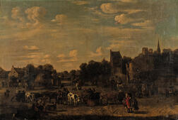 Attributed to Alexander van Bredael (Flemish, 1663-1722)      Landscape