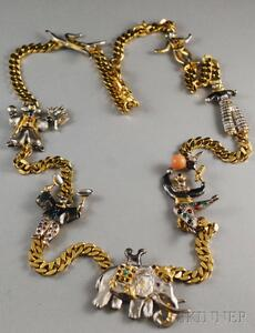 "Gem-set ""Le Cirque"" Harlequin Necklace"