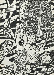 J. Jean Dubuffet (French, 1901-1985)      Situation LXXXXI (a l'arbre)