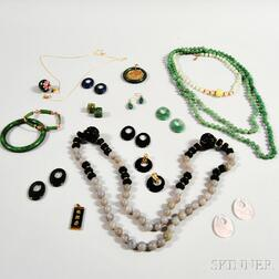 Group of Mostly Asian Hardstone Jewelry