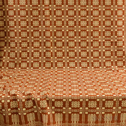 Double-weave Rust-colored Coverlet