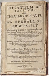 Parkinson, John (1567-1650) Theatrum Botanicum: the Theater of Plants.