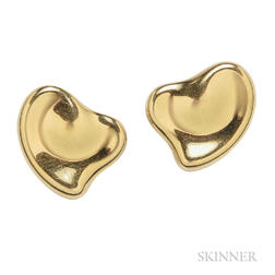 18kt Gold Earclips, Elsa Peretti for Tiffany & Co.