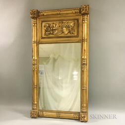 Classical Carved Gilt-gesso Split-baluster Tabernacle Mirror