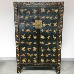 Polychrome and Black-lacquered Armoire