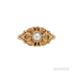 Georg Jensen 18kt Gold and Pearl Ring