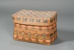 Painted Woven Splint Covered Basket