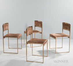 Four Willy Rizzo Dining Chairs
