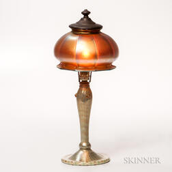 Tiffany Favrile Lamp Base with Steuben Shade