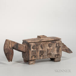 Dogon-style Carved Wood Box