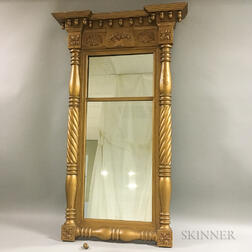 Federal Carved Gilt-gesso Tabernacle Mirror