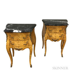 Pair of Louis XV-style Marble-top Tables