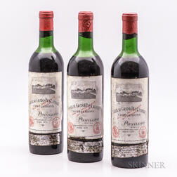 Chateau Grand Puy Lacoste 1970, 3 bottles