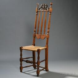 Tall Carved Maple Bannister-back Side Chair