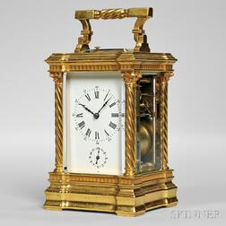 Hour Repeating Carriage Clock with Alarm