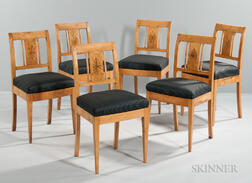 Six Biedermeier-style Inlaid Chairs