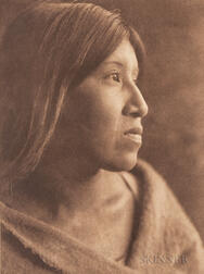 Edward Sheriff Curtis (American, 1868-1952) Nine Photogravures from Volume 15 and One from Volume 16 from The North American Indian, bo