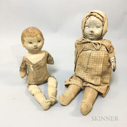 Two Composition Head Dolls