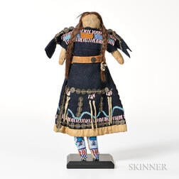 Native Blue Stroud Dress Doll