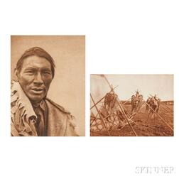 Edward Sheriff Curtis (American, 1868-1952) Group of Seven Photogravures from Volume 18 and One from Volume 19 from The North American
