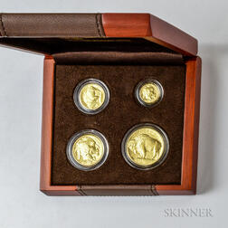 2008-W American Gold Buffalo Uncirculated Four-coin Set