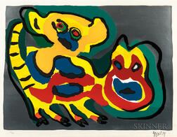 Karel Appel (Dutch, 1921-2006)      Come Back Pussy Cat